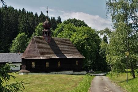 Dřevěný kostel sv.Jana Nepomuckého Klepáčov_2