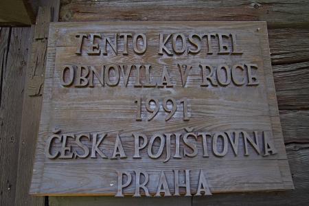 Dřevěný kostel sv.Jana Nepomuckého Klepáčov_7