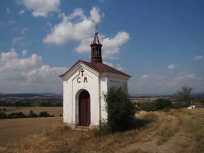 Kaple sv. Cyrila a Metoděje u polní cesty do Řimic