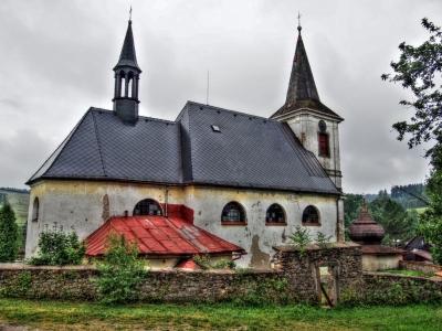Kostel sv. Maři Magdaleny Bartošovice Orl. hory