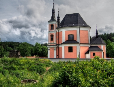 Poutní kostel sv. Anny a sv. Jakuba Většího Stará Voda (Libavá)_4