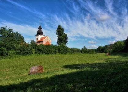Stříbrná Skalice - Rovná - Románský kostel sv. Jakuba Většího_4